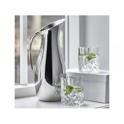 Nuance Kande Dia. 12 x 30 cm 1,7 liter stål, samt 2 stk. 31 cl. Lyngby Lounge glas.