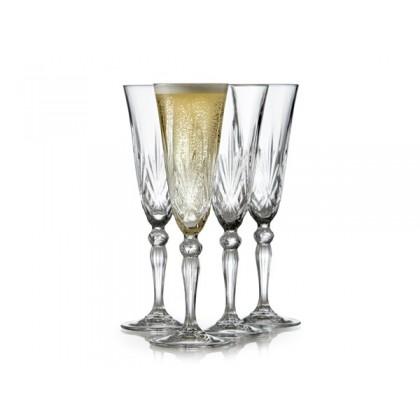 Lyngby Glas Krystal Melodia Champagne 16 cl 4 stk. Klar