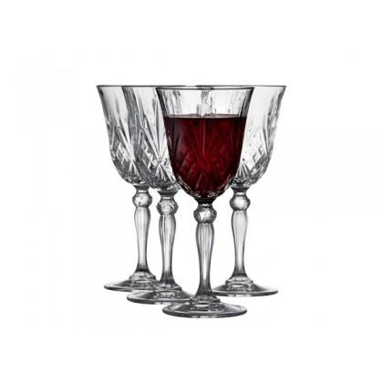 Lyngby Glas Krystal Melodia Rødvin 27 cl 4 stk. Klar