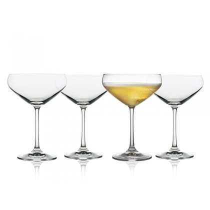 Lyngby Glas Juvel Champagneskål 34 cl 4 stk.