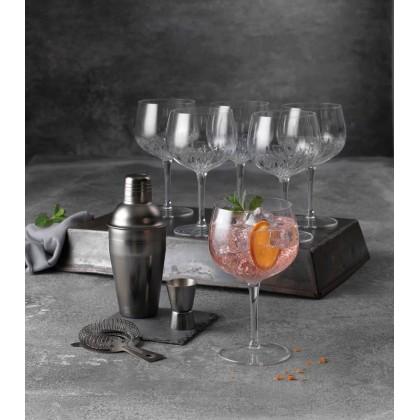 Luigi Bormioli - Mixology spansk gin & tonic-glas klar - 6 stk. 80 cl og Bredemeijer Barsæt 3 dele mat sort