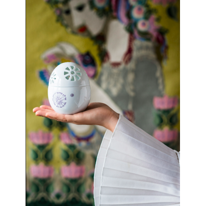 Easter Bonbonniere hvid 9,3 cm